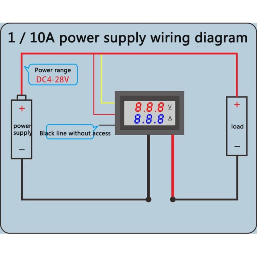 Digital Amp Meter Wiring Diagram | Wiring Library - Digital Volt Amp Meter Wiring Diagram