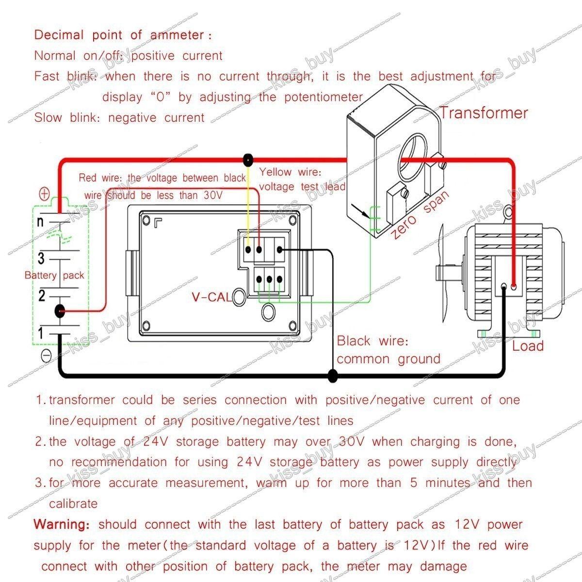 Digital Volt Amp Meter Wiring Diagram | Manual E-Books - Digital Volt Amp Meter Wiring Diagram