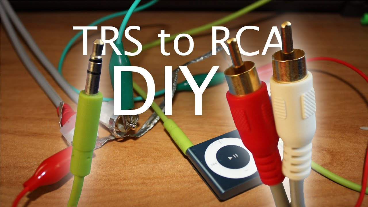 Diy Audio Connector Adapter: 3.5Mm Analog To Red/white (A.k.a. Trs - 3.5 Mm To Rca Wiring Diagram