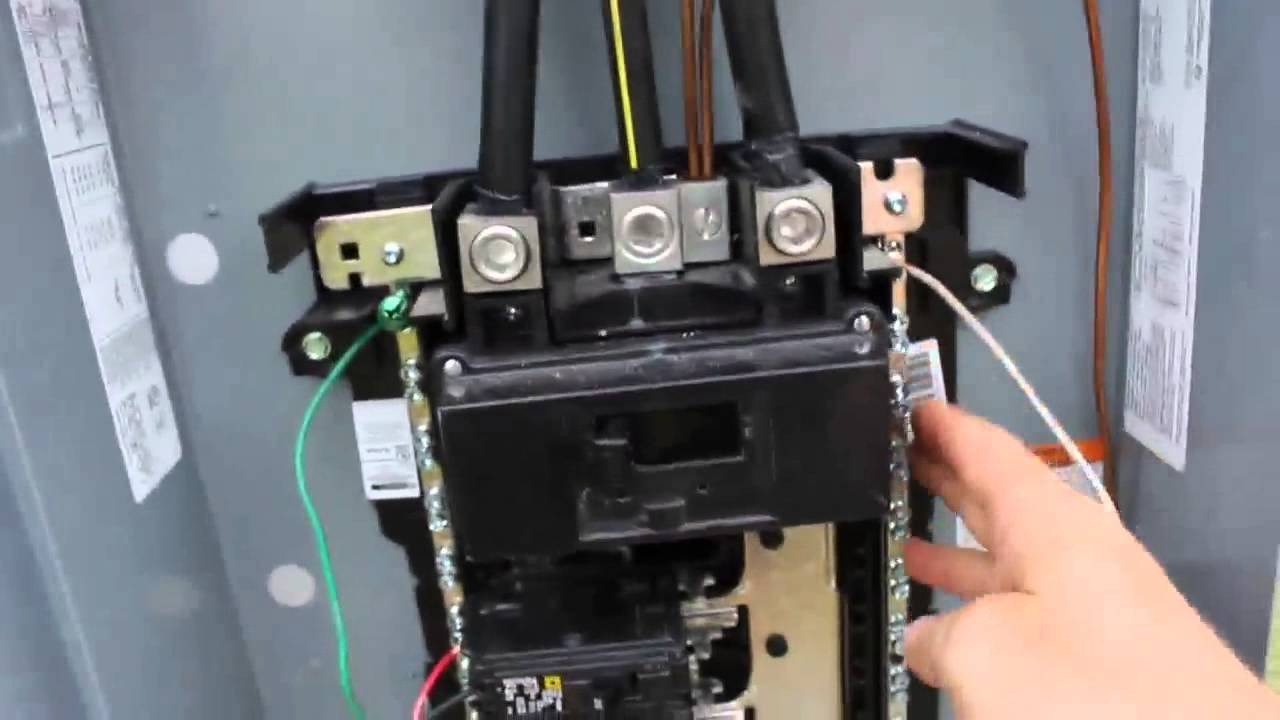 Diy Electrical Service Installation With 200 Amp Main Breaker - Youtube - 200 Amp Breaker Box Wiring Diagram