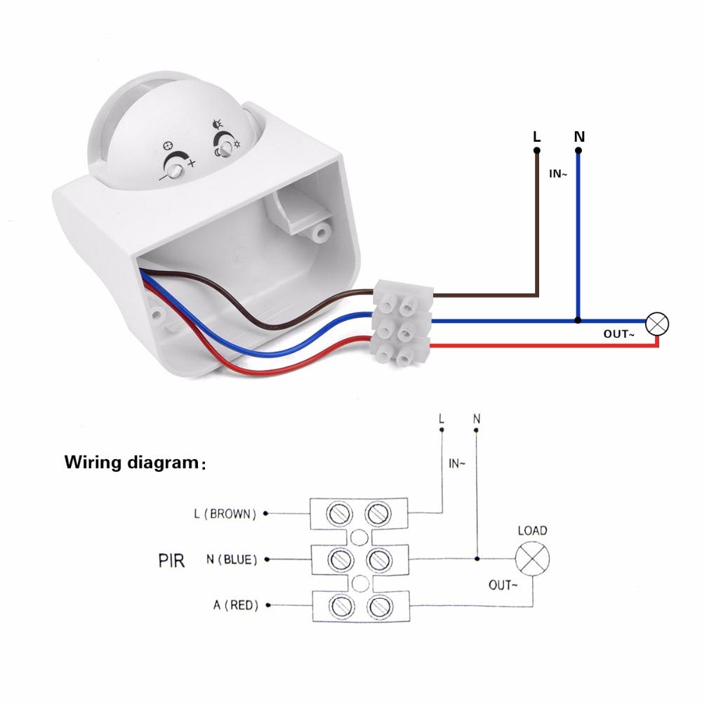 Diy Pir Infrared Motion Sensor Switch Smart Security Led Light - Motion Sensor Wiring Diagram