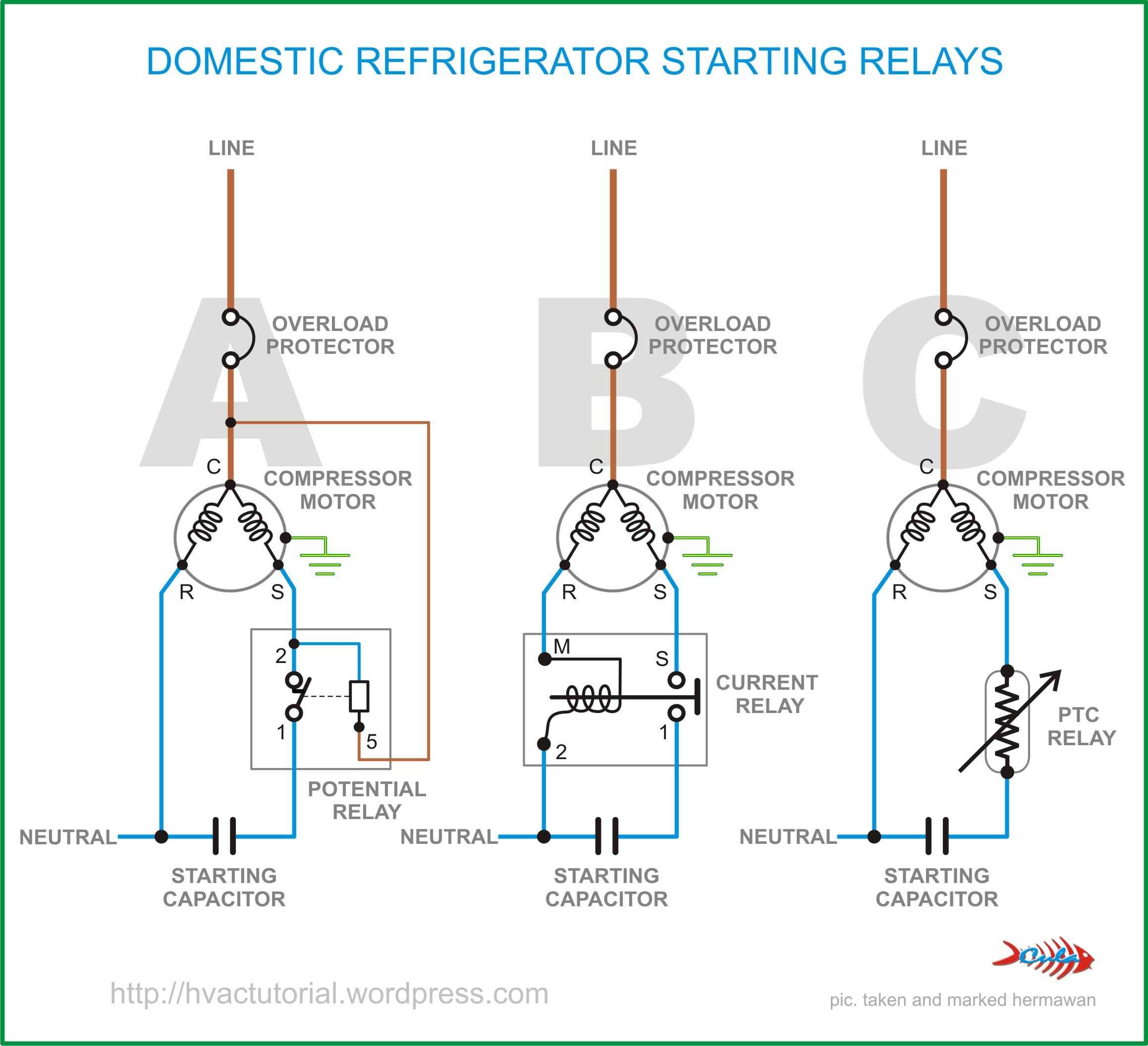 Domestic Refrigerator Starting Relays | Hermawan's Blog - Refrigerator Start Relay Wiring Diagram