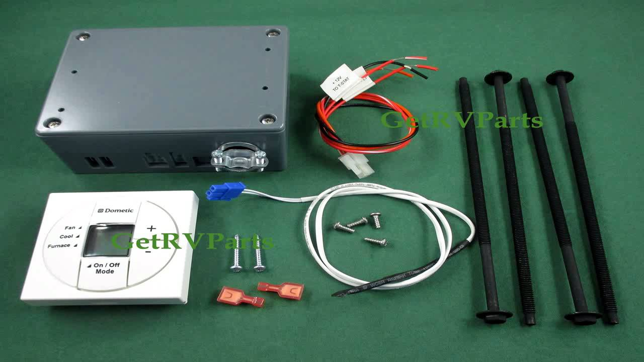Dometic 3313192.000 White Single Zone Lcd Thermostat Heatcoolfan - Dometic Capacitive Touch Thermostat Wiring Diagram