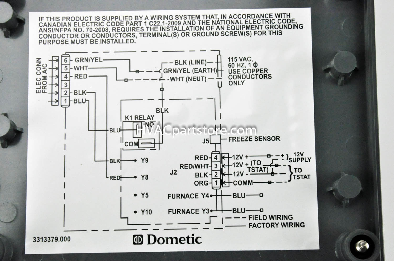Dometic Rv Ac Wiring Diagram | Manual E-Books - Dometic Rv Thermostat Wiring Diagram