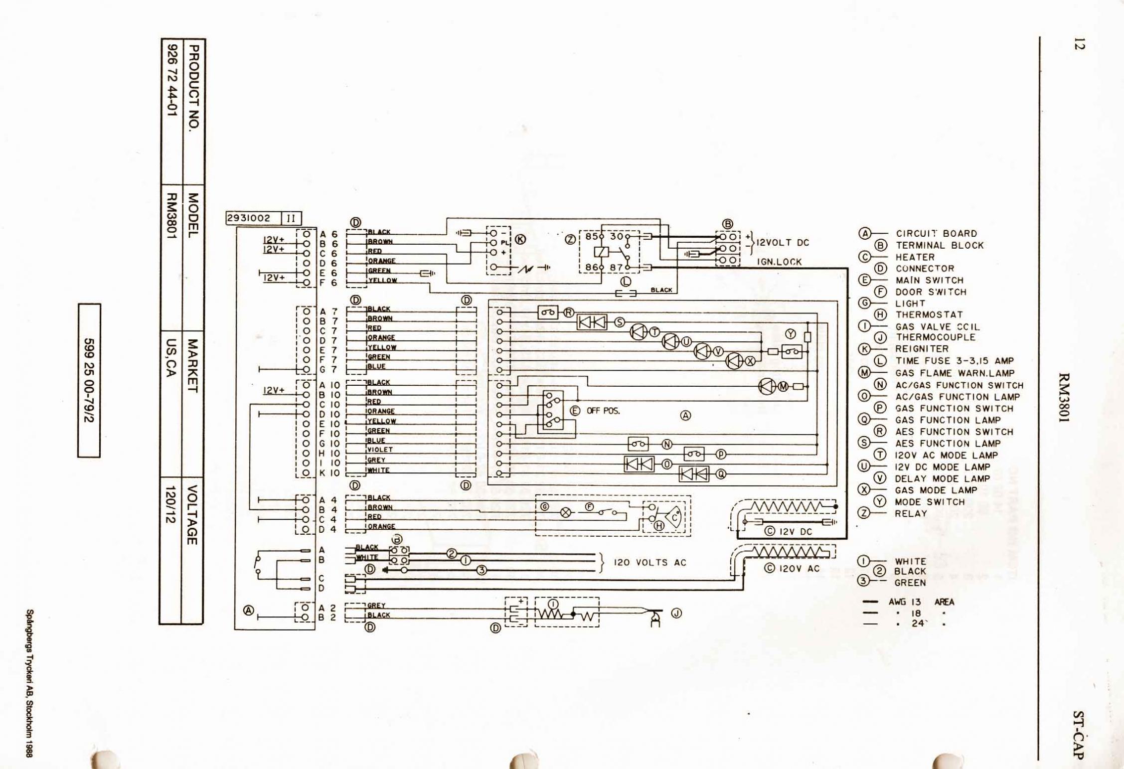 Dometic Rv Thermostat Wiring Diagram – Dometic 3 Way Refrigerator - Rv Thermostat Wiring Diagram