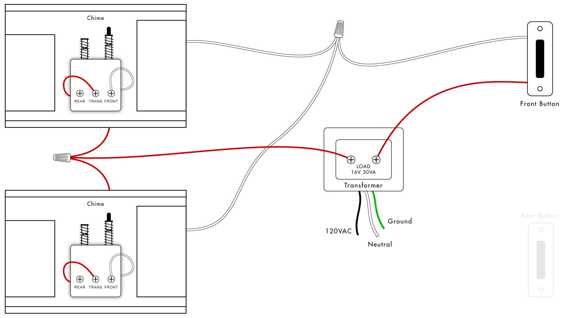 Doorbell Wiring Diagrams | Diy House Help - Door Bell Wiring Diagram