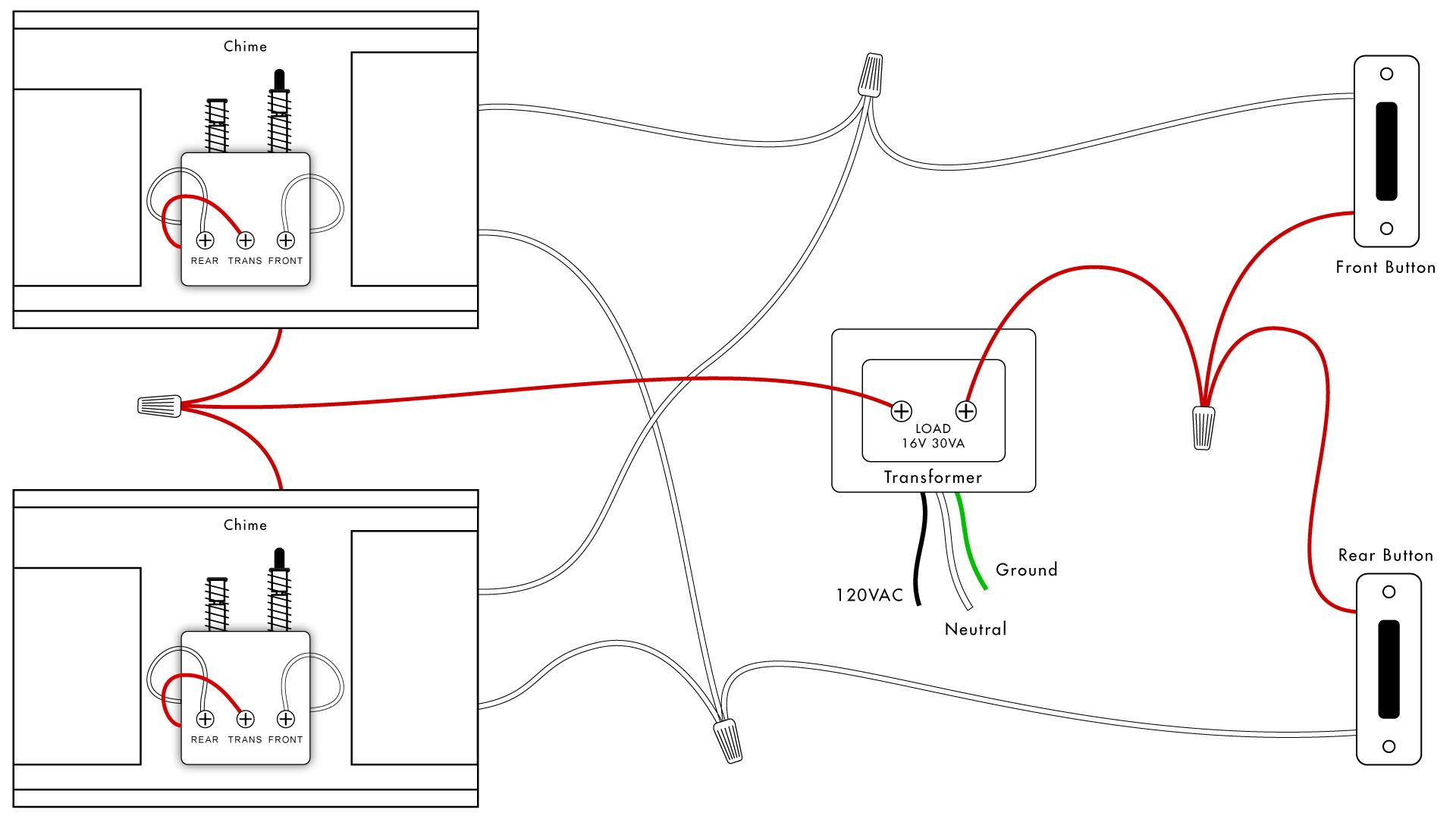 Doorbell Wiring Diagrams | Diy House Help - Doorbell Transformer Wiring Diagram