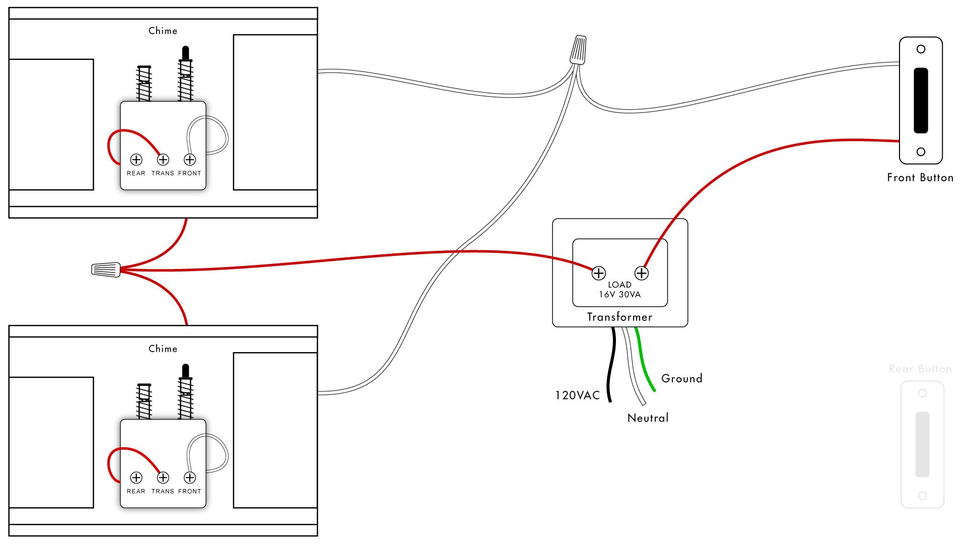 Doorbell Wiring Diagrams   Diy House Help - Doorbell Wiring Diagram Tutorial