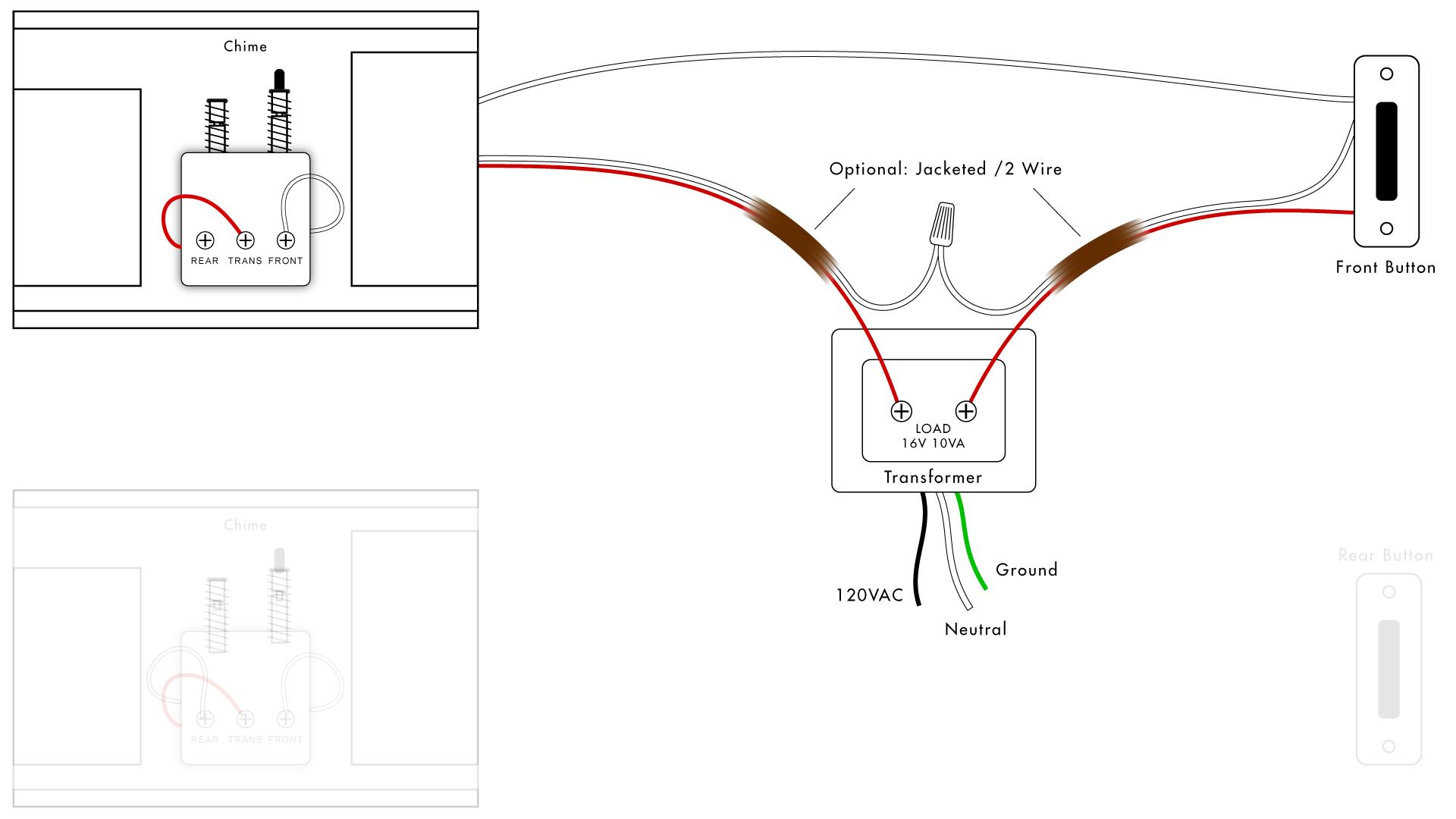 Doorbell Wiring Diagrams | Diy House Help - Nutone Doorbell Wiring Diagram