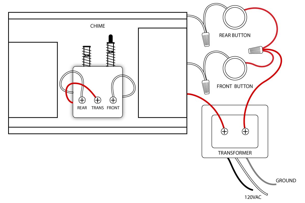Doorbell Wiring Diagrams | Vintage Doorbell | Home Electrical Wiring - Door Bell Wiring Diagram