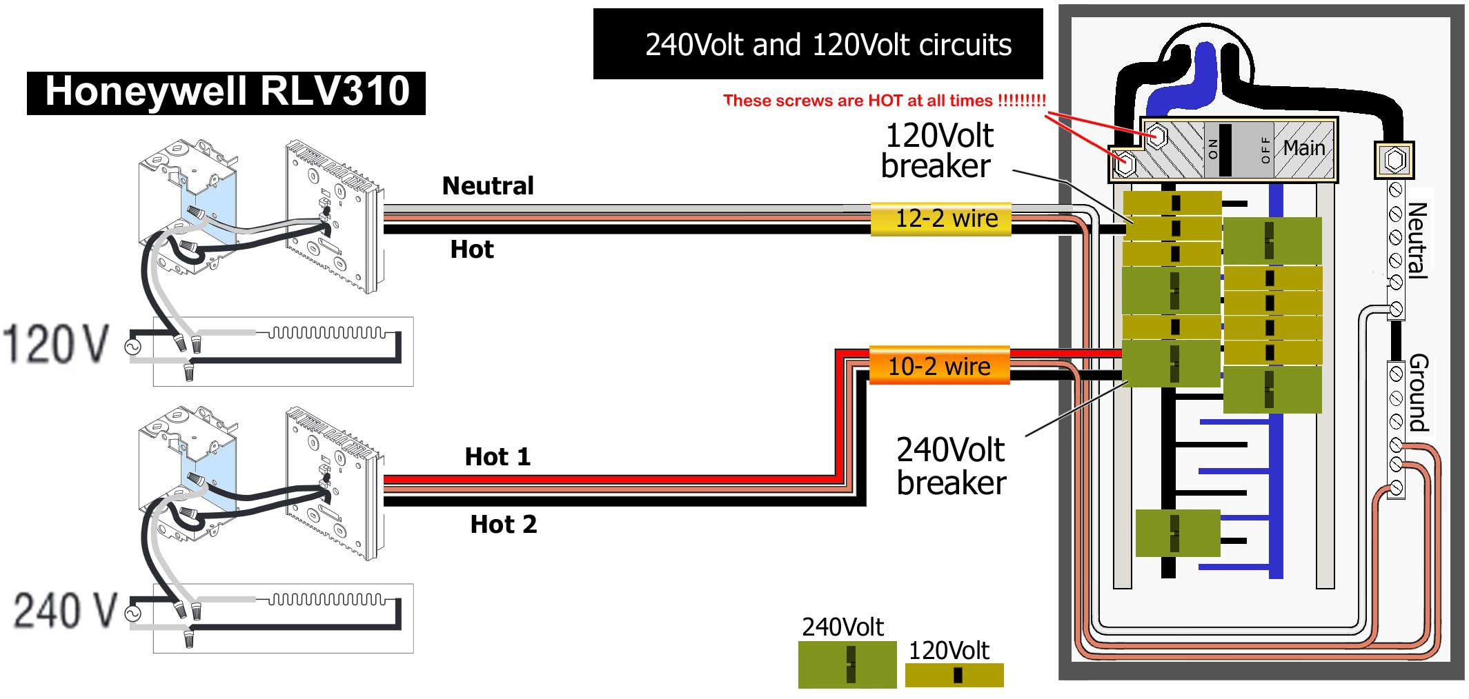 Double Pole Wiring Diagram | Msyc Switch Wiring Diagram - Double Pole Thermostat Wiring Diagram