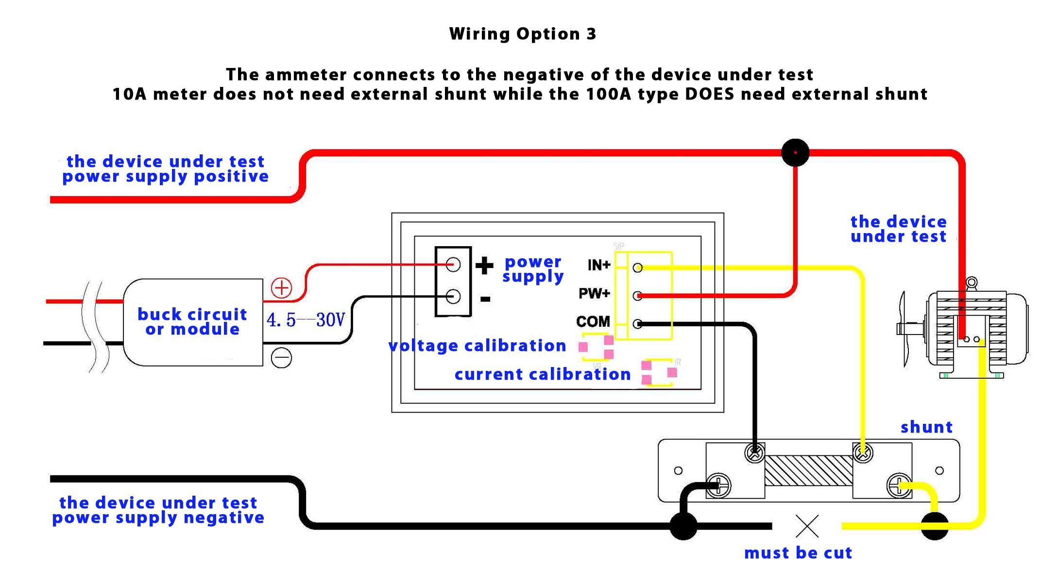Dual Digital Display Dc Voltmeter & Ammeter 0-100V 0-100A Australia - Digital Volt Amp Meter Wiring Diagram