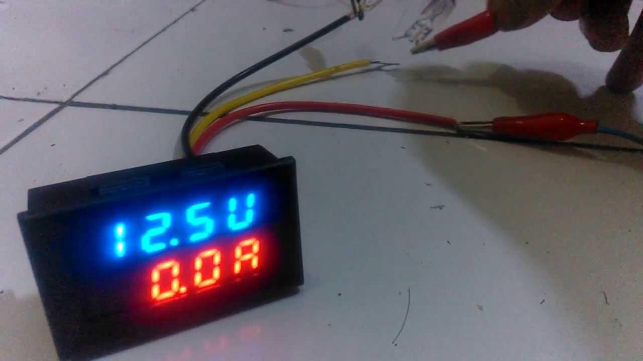Dual Led Digital Voltmeter Ammeter ( Volt & Ampere Tester) - Youtube - Digital Volt Amp Meter Wiring Diagram