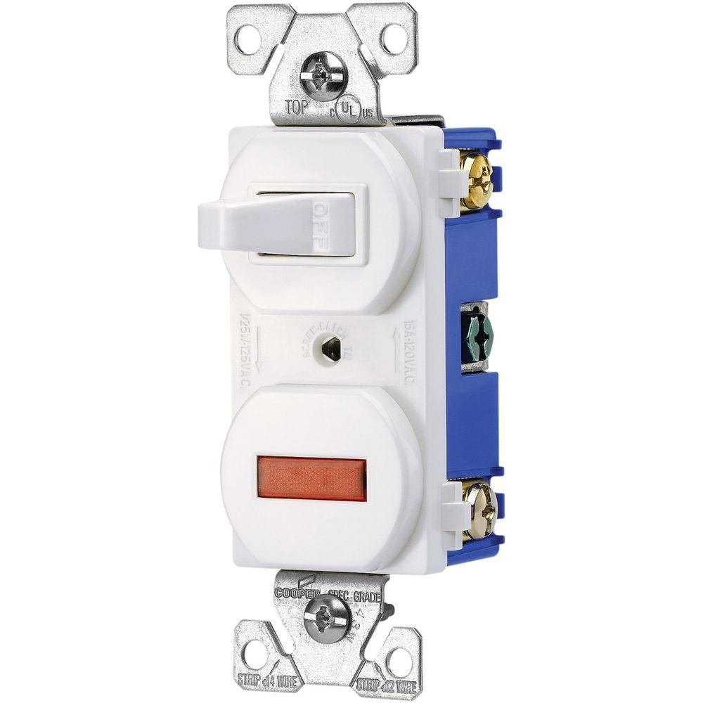 Eaton Heavy-Duty Grade 15 Amp Combination Single Pole Toggle Switch - Single Pole Light Switch Wiring Diagram