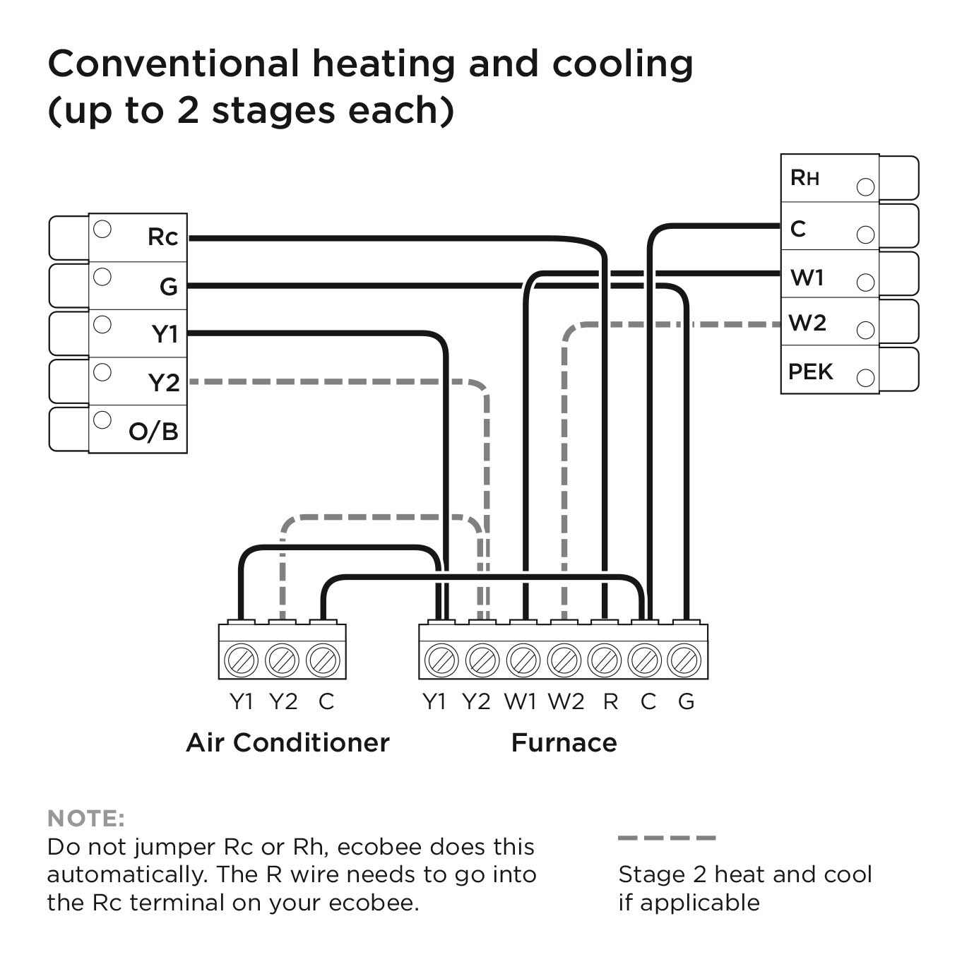 Ecobee3 Lite Wiring Diagrams – Ecobee Support - Ecobee Wiring Diagram