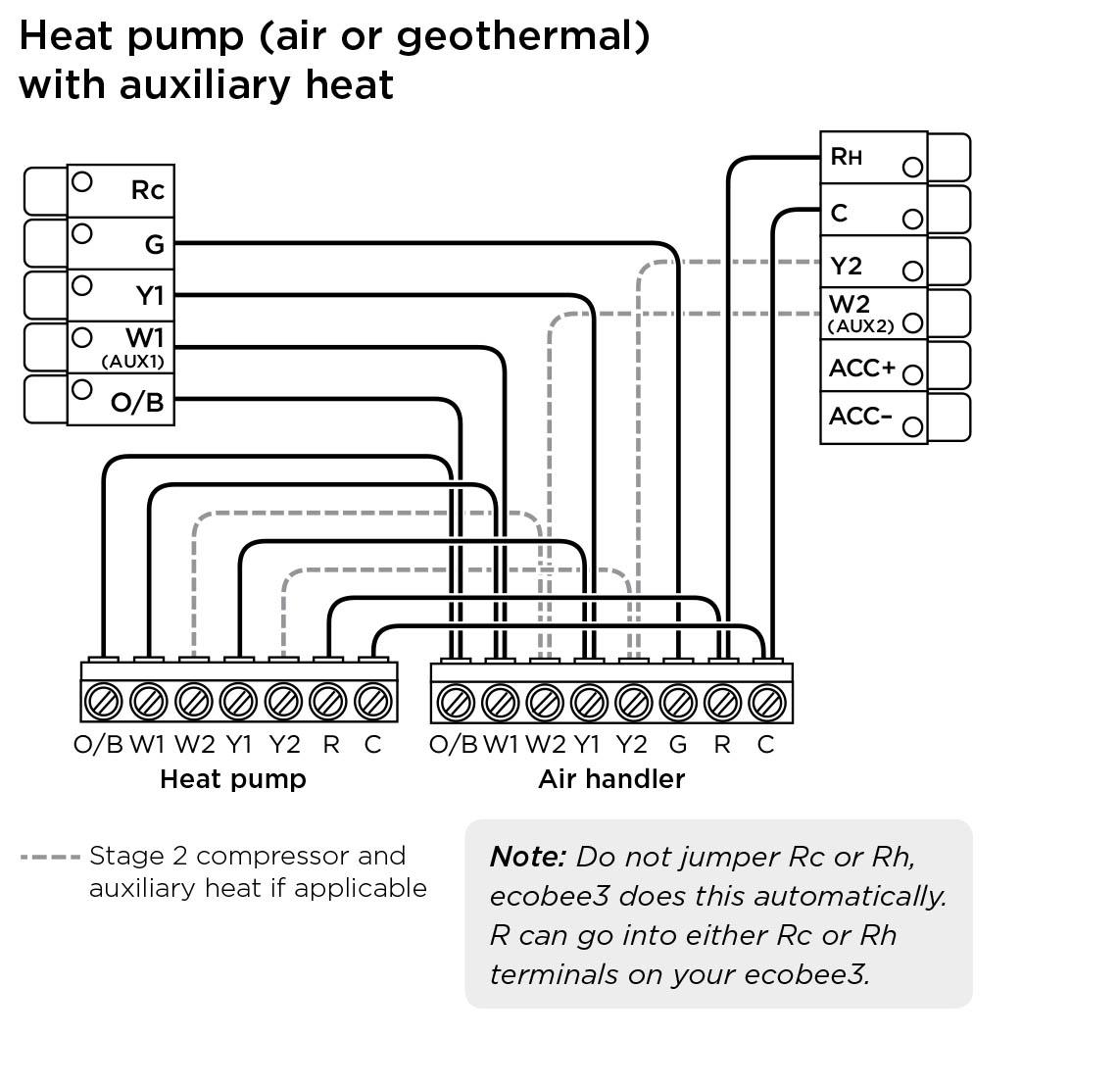 Ecobee3 Wiring Diagrams – Ecobee Support - Heat Pump Wiring Diagram