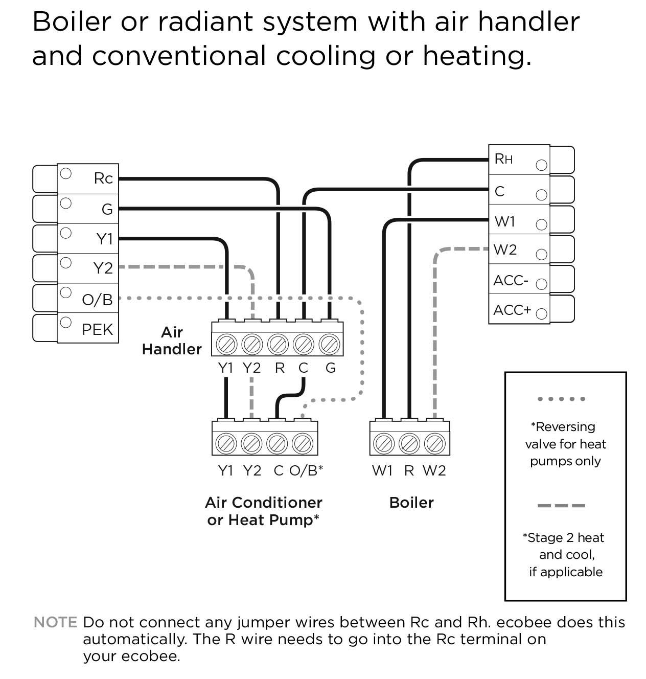 Ecobee4 Wiring Diagrams – Ecobee Support - Heat Pump Wiring Diagram