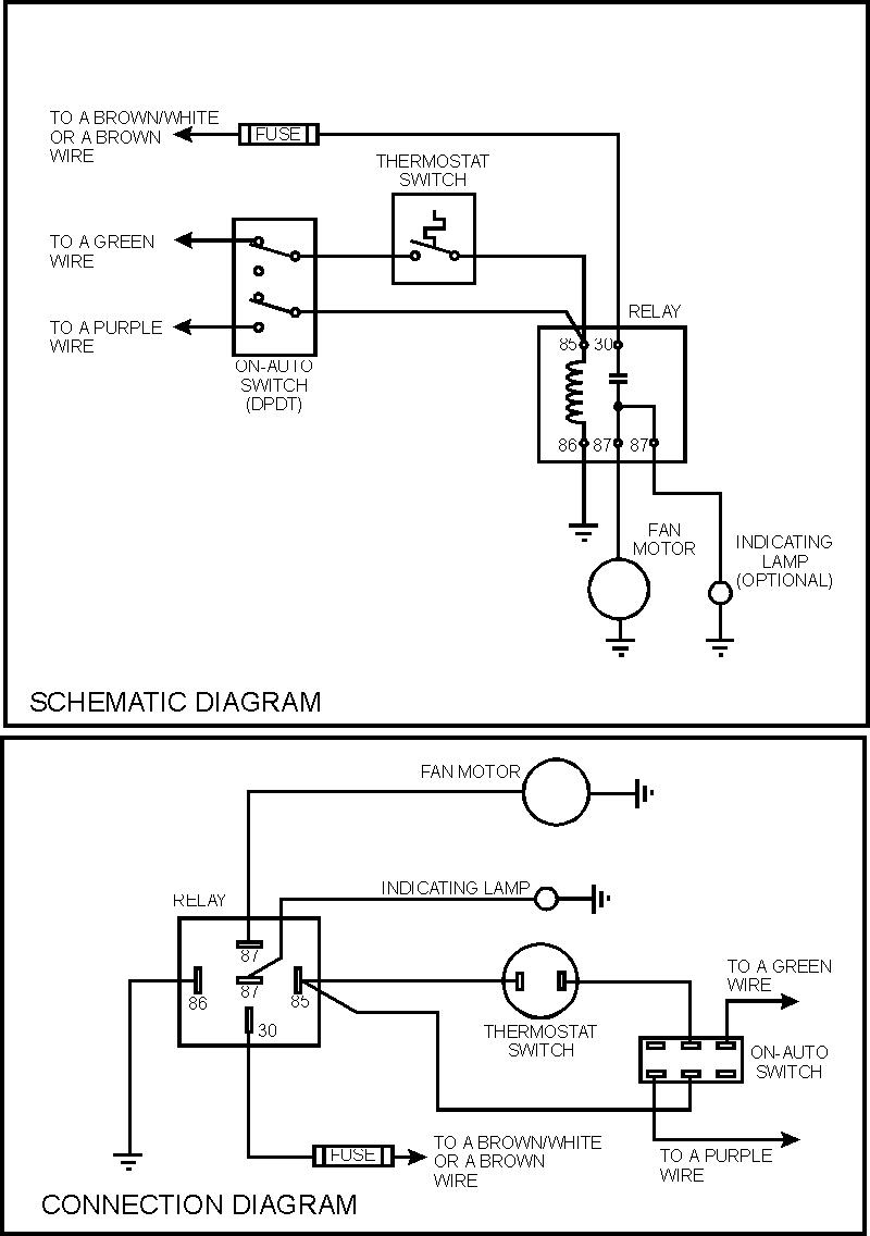 Electric Fan Temperature Switch Relay Wiring Diagram | Manual E-Books - Electric Fans Wiring Diagram