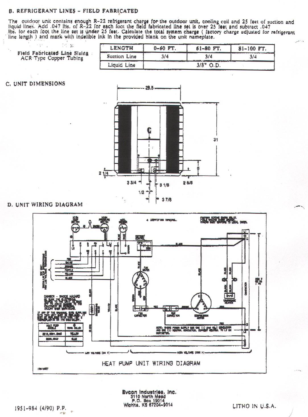Electric Heat Pump Wiring Diagram | Wiring Diagram - Goodman Heat Pump Wiring Diagram