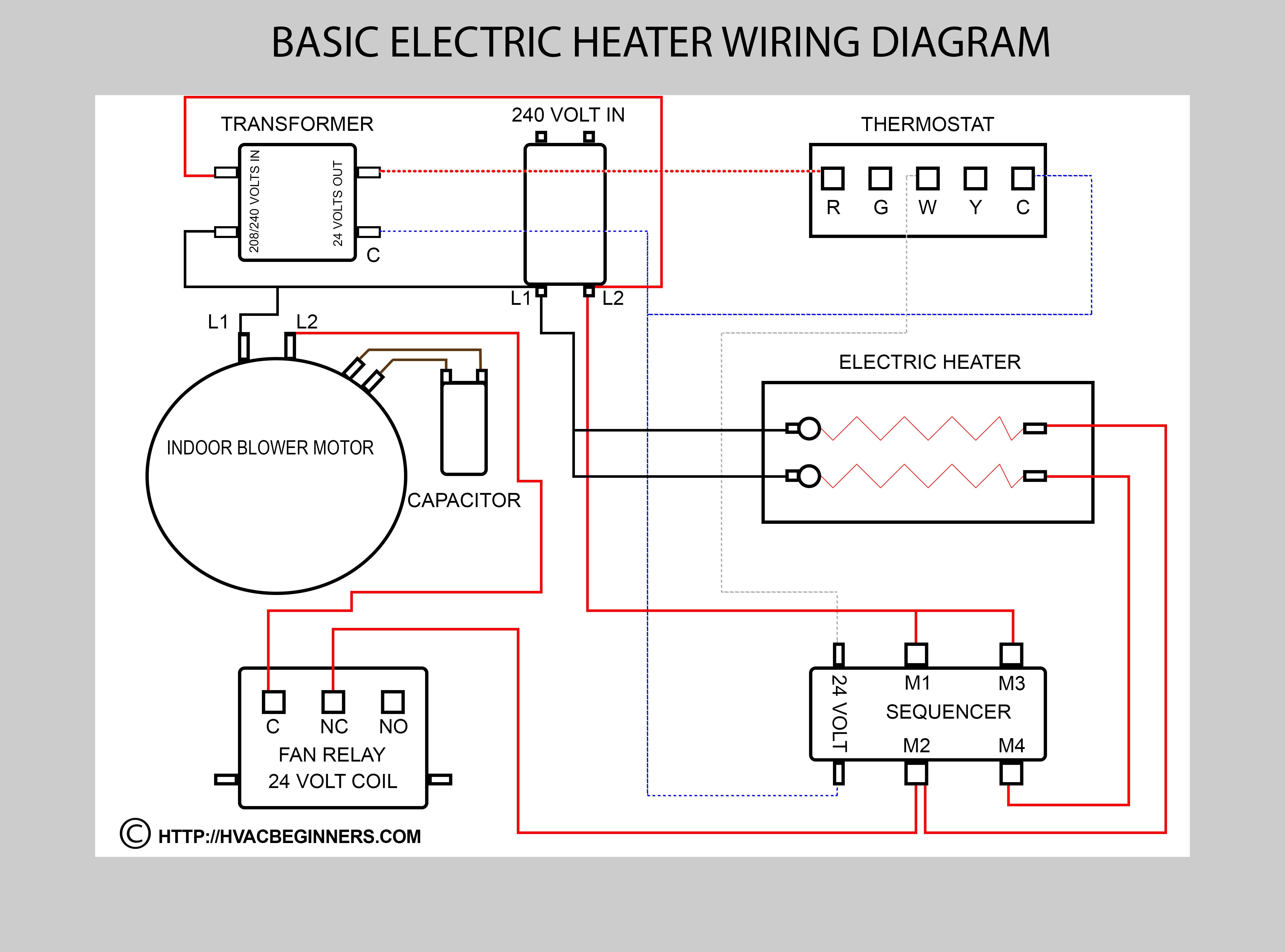 Electric Heater Wiring Diagram | Schematic Diagram - Electric Heater Wiring Diagram
