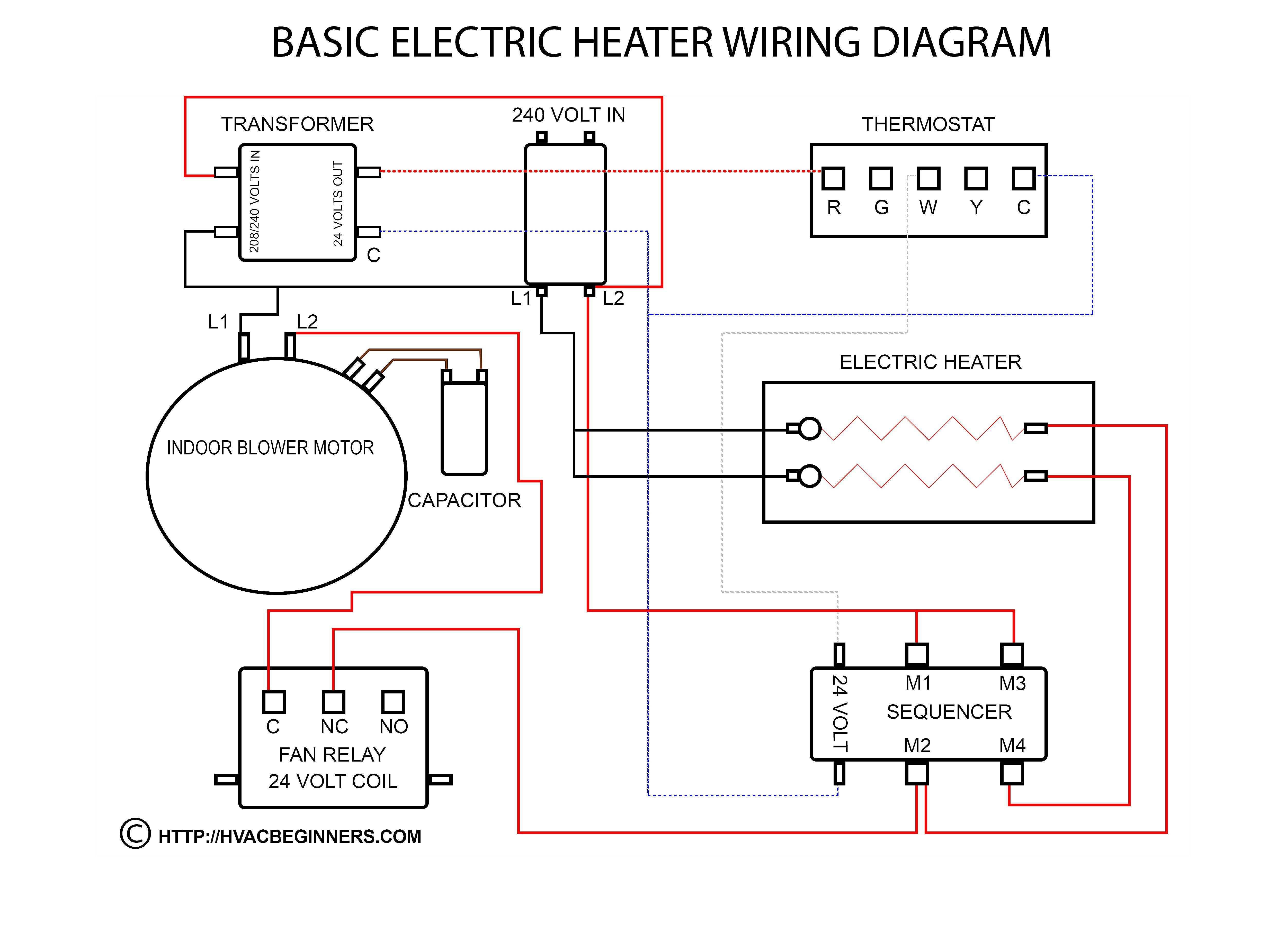 Electric Heater Wiring Diagram - Wiring Diagram Data - Electric Water Heater Thermostat Wiring Diagram