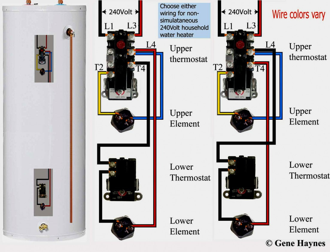 Electric Hot Water Heater Wiring Diagram How To Wire Thermostats - Electric Hot Water Heater Wiring Diagram