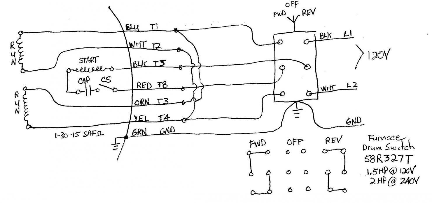 Electric Motor Wiring Diagram 220 To 110 - Data Wiring Diagram Schematic - Electric Motor Capacitor Wiring Diagram