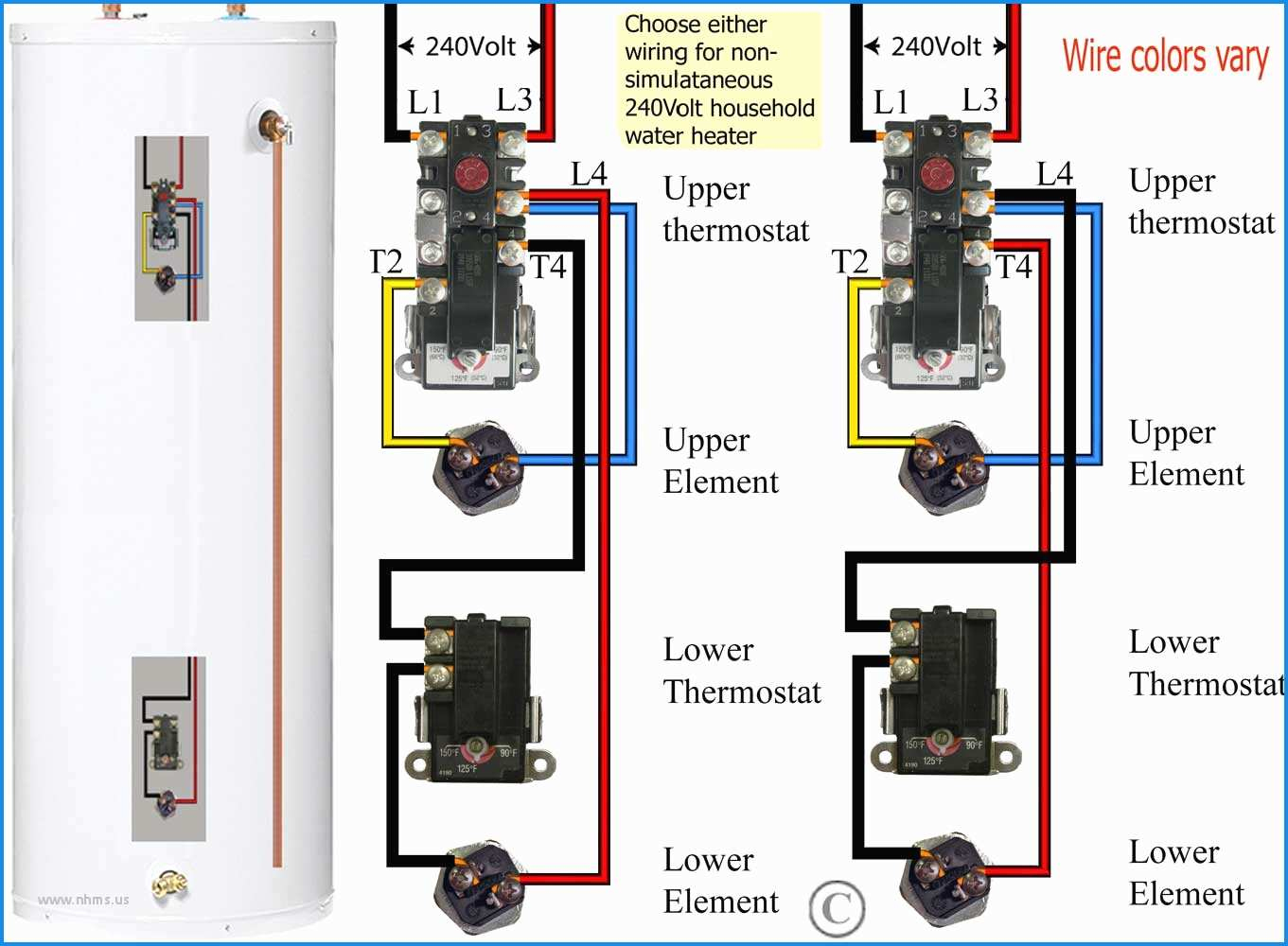 Electric Water Heater Thermostat Wiring Diagram   Wiring Diagram - Electric Water Heater Thermostat Wiring Diagram