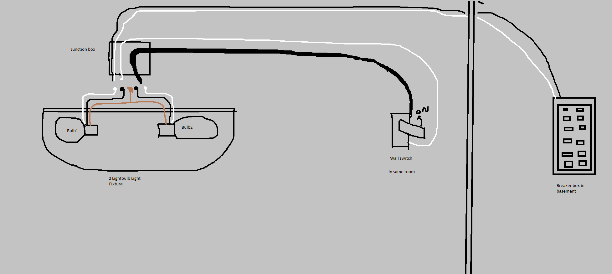 Electrical - A Light Fixture With 2 White, 2 Black Wires, 1 Copper - Wiring A Light Switch Diagram
