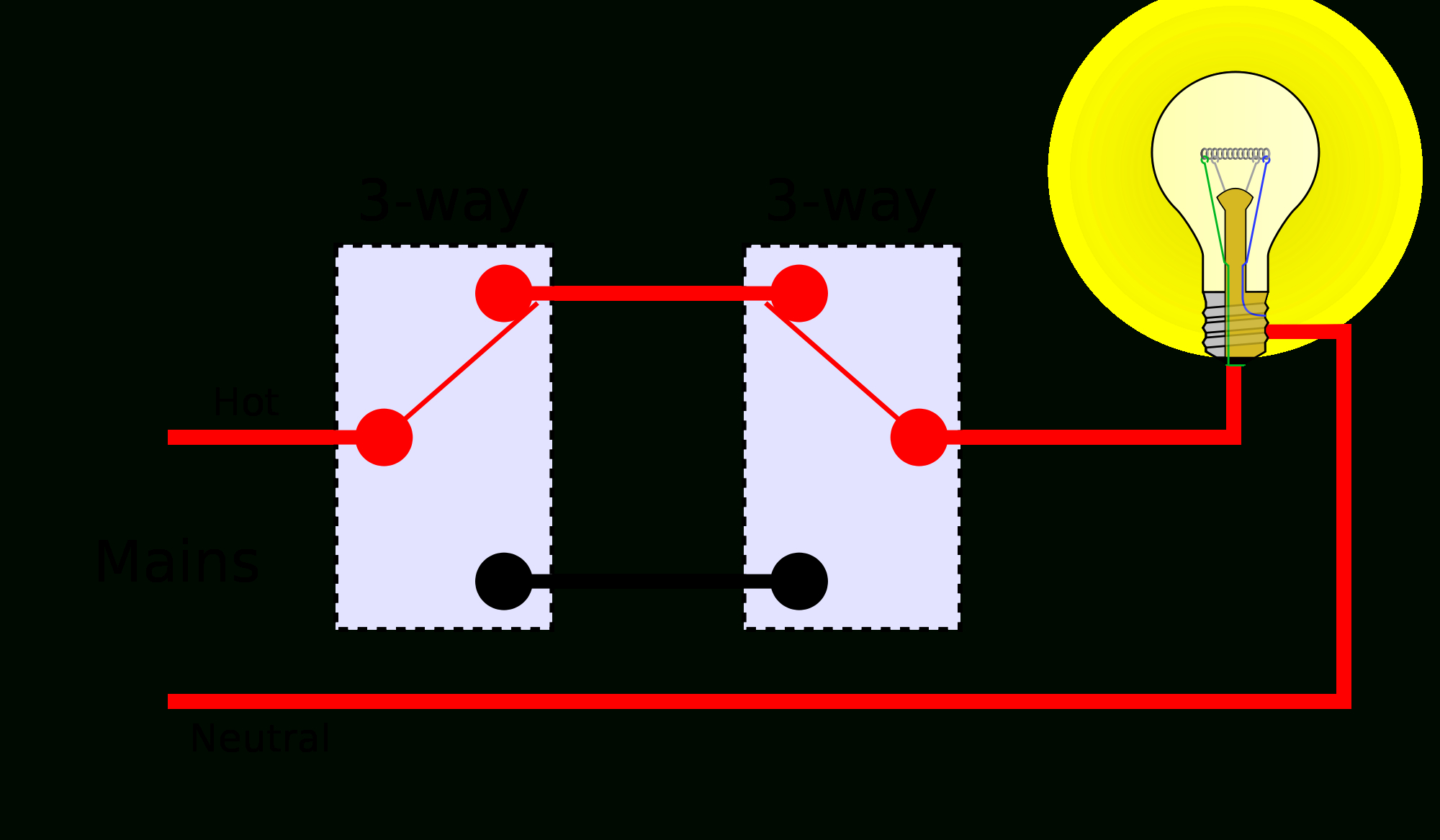 Electrical - How Can I Eliminate One 3-Way Switch To Leave Just One - Wiring Two Lights To One Switch Diagram