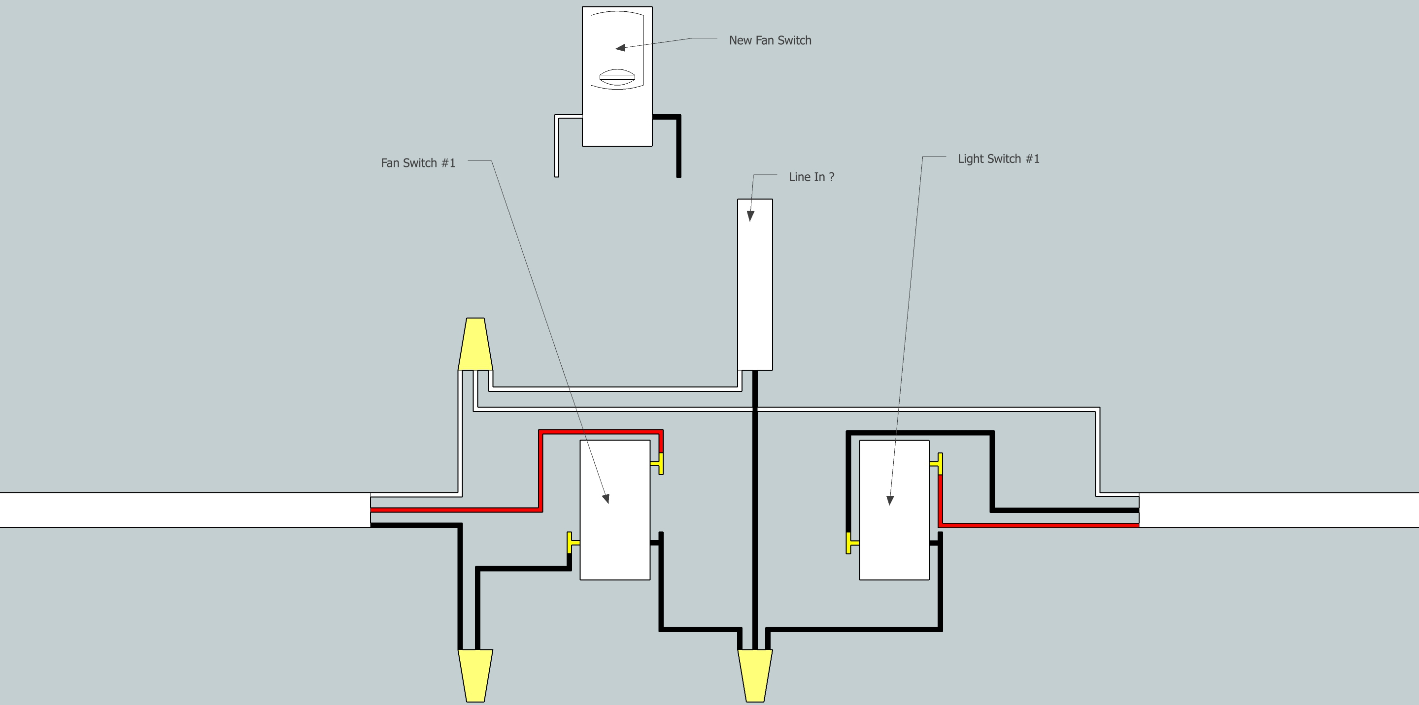 Electrical - Need Help Adding Fan To Existing 3-Way Switch Setup - Wiring Diagram 3 Way Switch