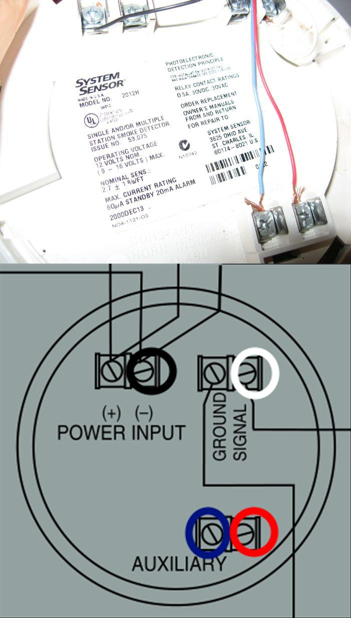 Electrical - Need Help With Correct Wiring When Replacing A - 4 Wire Smoke Detector Wiring Diagram