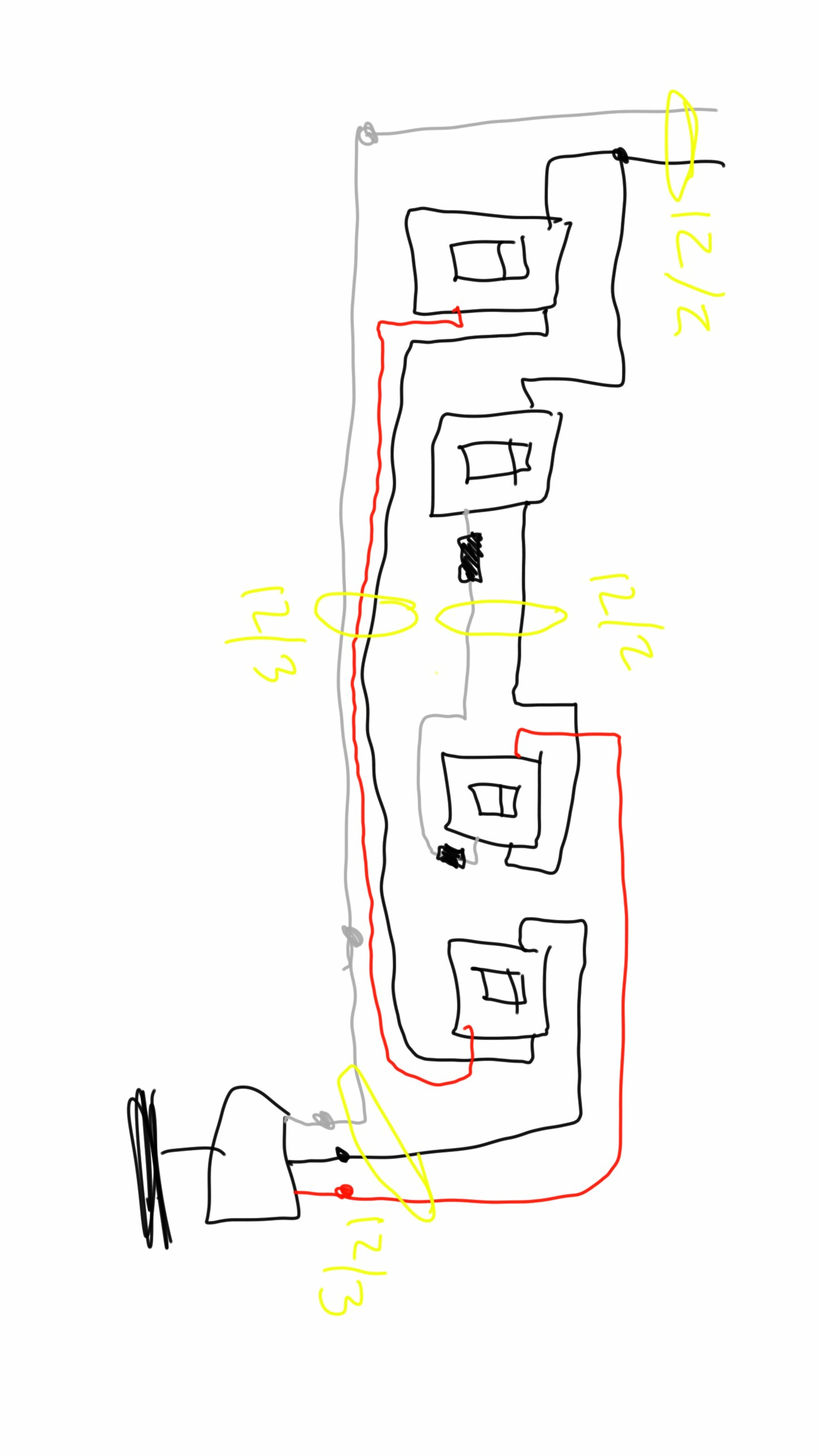 Electrical - What Wire Is Needed For A Double 3-Way Switch On Fan - Double Light Switch Wiring Diagram