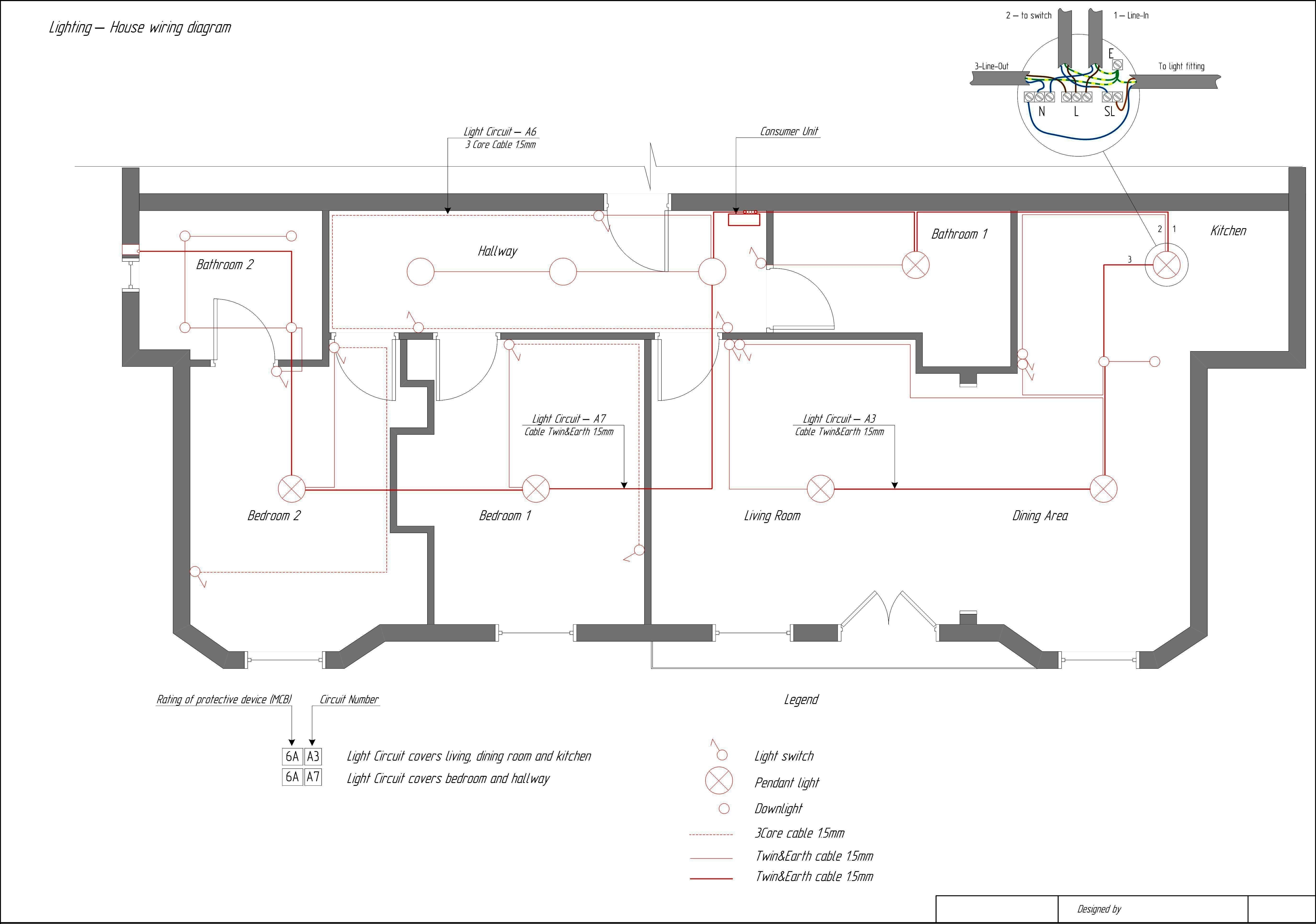 Electrical Wiring House Plan - Data Wiring Diagram Today - Kitchen Electrical Wiring Diagram