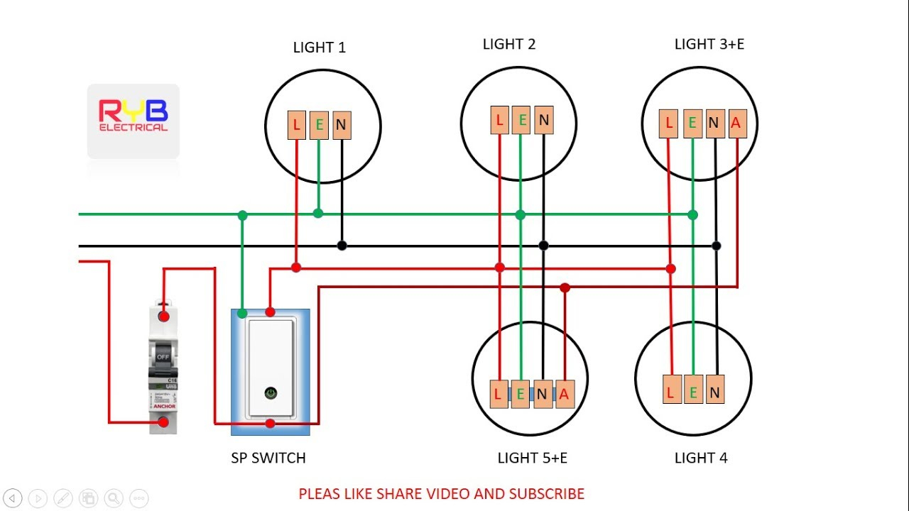 Emergency Light Switch Wiring Diagram! - Youtube - Electrical Switch Wiring Diagram