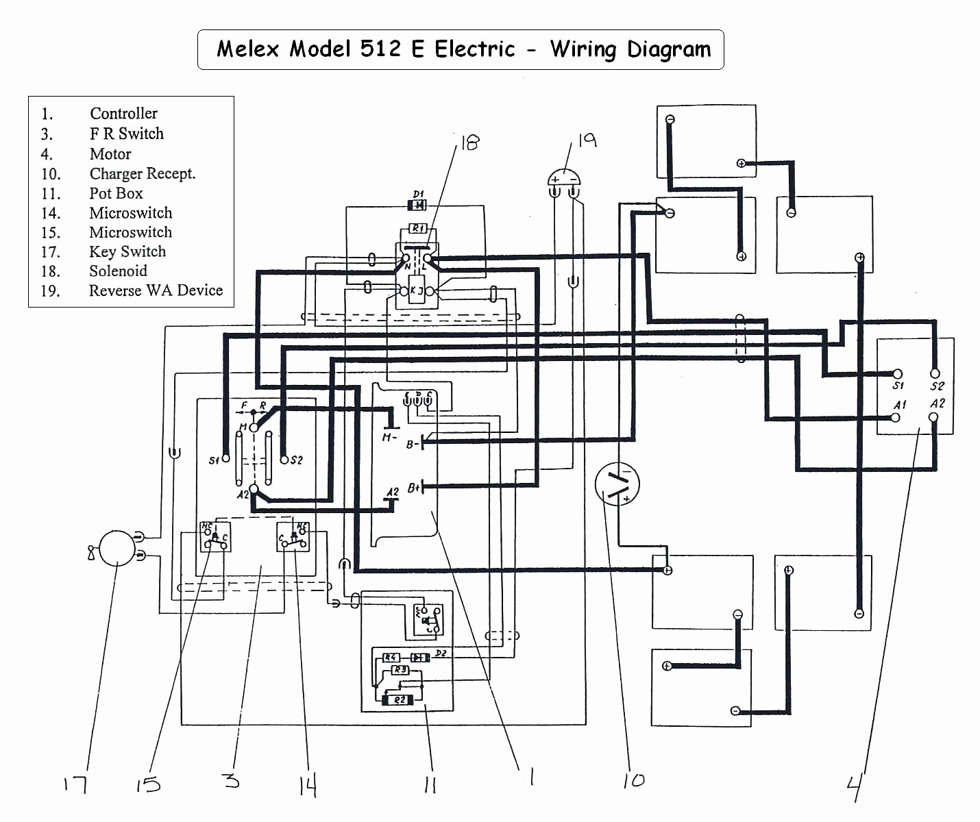 Ez Go Golf Cart Battery Wiring Diagram Inspirational 1991 Marathon - 36 Volt Golf Cart Wiring Diagram