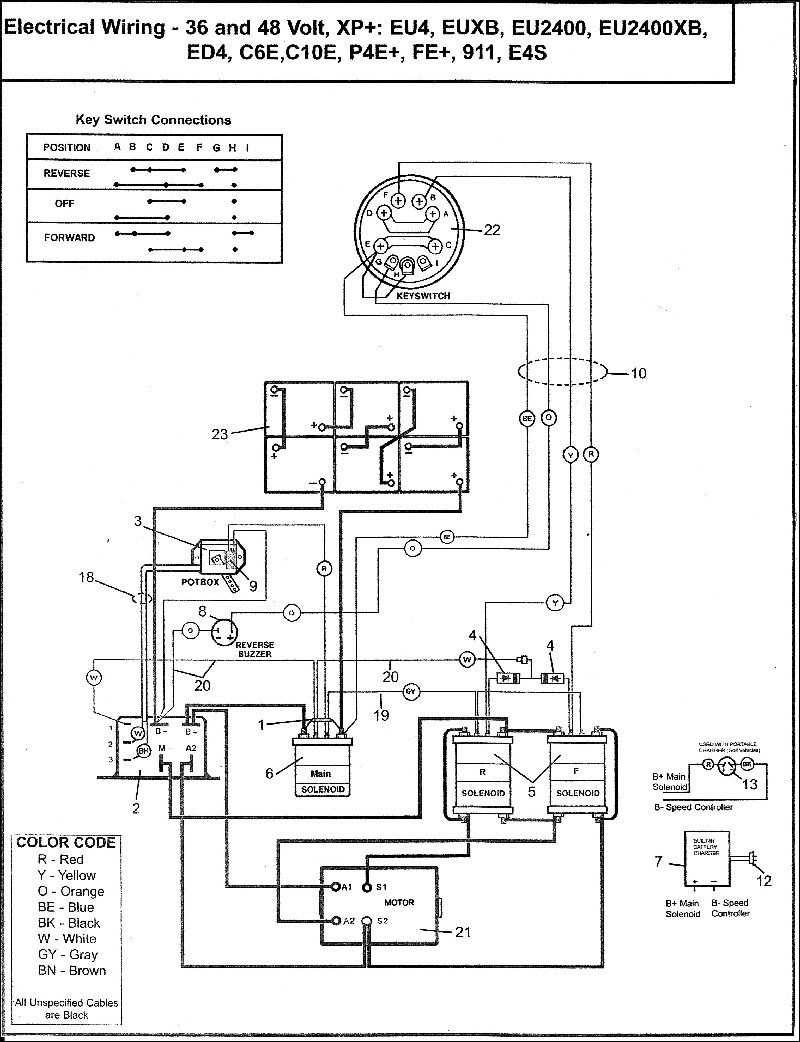Ez Go Marathon Electric Motor Wiring Diagram | Wiring Diagram - Ez Go Txt 36 Volt Wiring Diagram