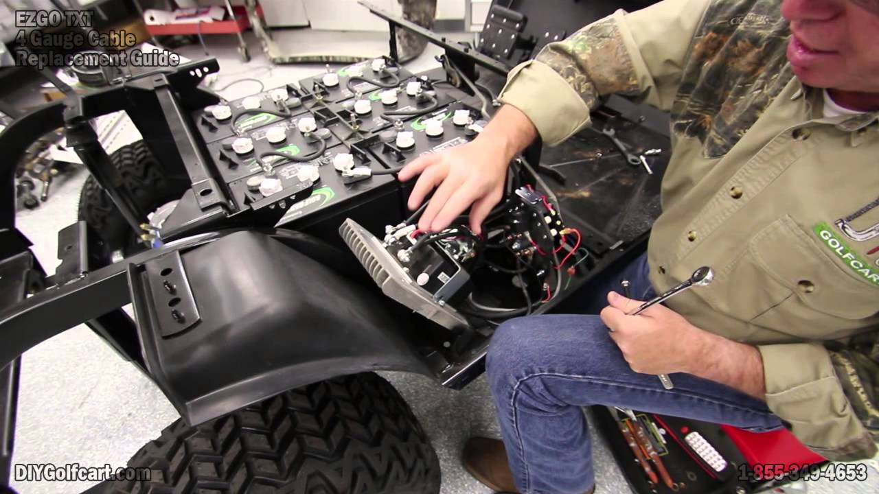 Ezgo Heavy Duty Battery Cable Upgrade | How To Install Golf Cart - E Z Go Golf Cart Batteries Wiring Diagram