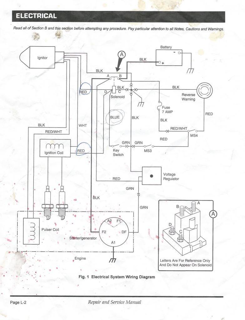 Ezgo Starter Generator Wiring Diagram In Golf Cart Gas For Ezgo - Golf Cart Wiring Diagram