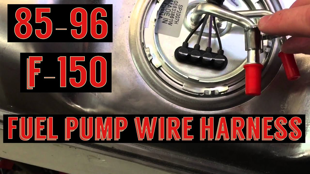 F150 Fuel Pump Wiring Harness Install / Spectra Fuel Pump - Youtube - 1995 Ford F150 Fuel Pump Wiring Diagram