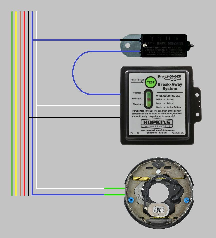 Faq Aa How To Wire Electric Trailer Brakes - Wiring Solution 2018 - Trailer Brake Wiring Diagram