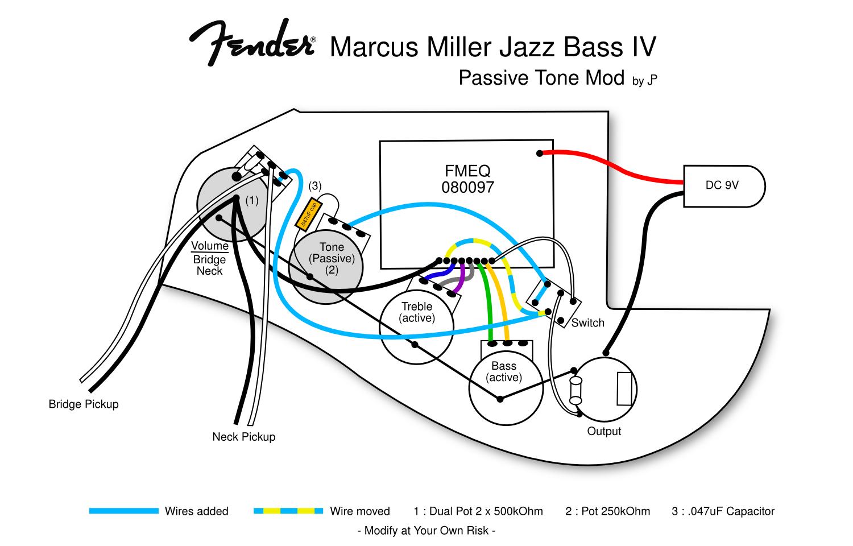 Fender Marcus Miller Jazz Bass Wiring Diagram | Wiring Diagram - Fender Jazz Bass Wiring Diagram