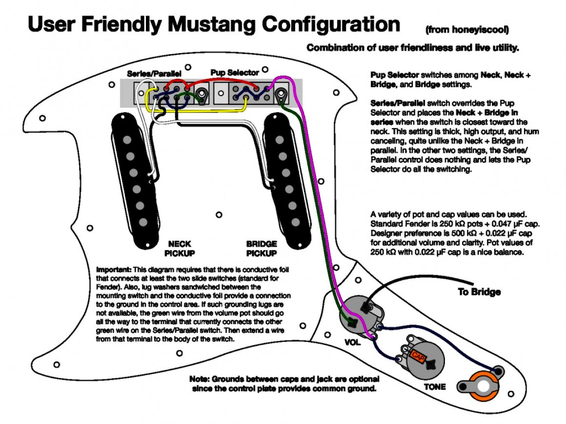 Fender Mustang Wiring Diagram | Manual E-Books - Fender Mustang Wiring Diagram