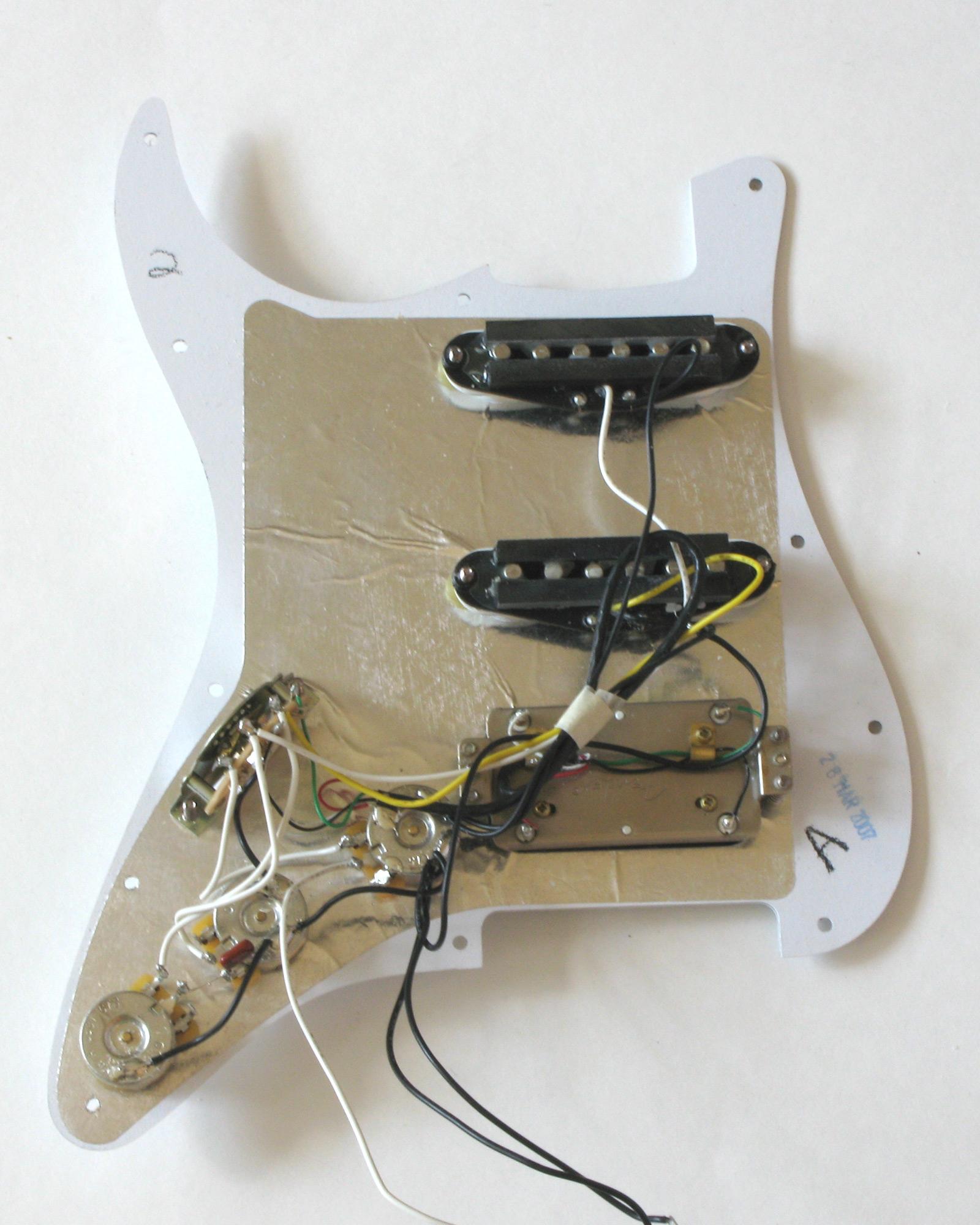 Fender Stratocaster Mexican Hss Pickguard Wiring Diagram - Fender Hss Wiring Diagram