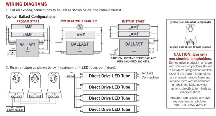 2-Lamp T8 Ballast Wiring Diagram