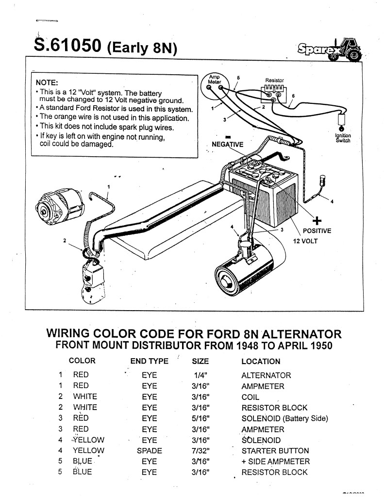 Ford 8N Distributor Wiring - Wiring Diagrams Hubs - 8N Ford Tractor Wiring Diagram