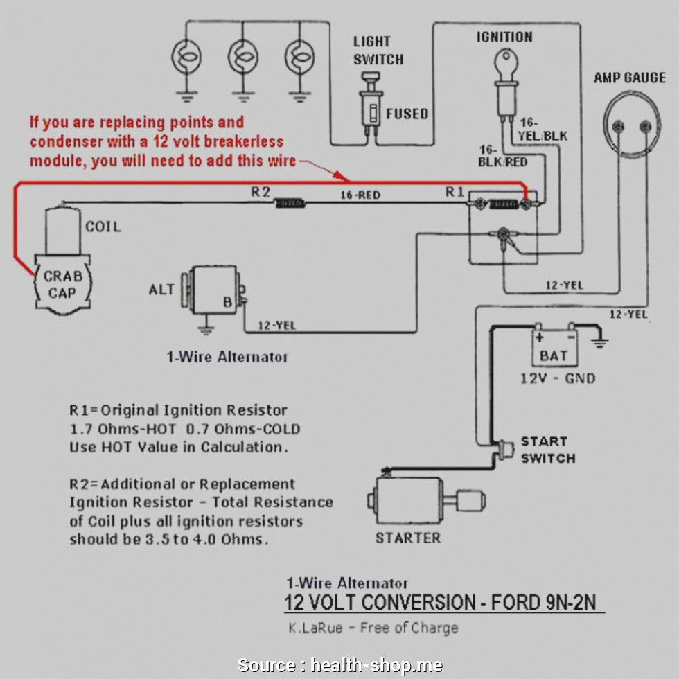 Ford 9N Wiring Diagram 12 Volt 1 Wire Alternator - Wiring Diagram - 12 Volt Alternator Wiring Diagram