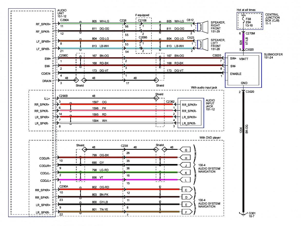 Ford Factory Radio Wiring - Wiring Diagrams Hubs - Car Radio Wiring Diagram