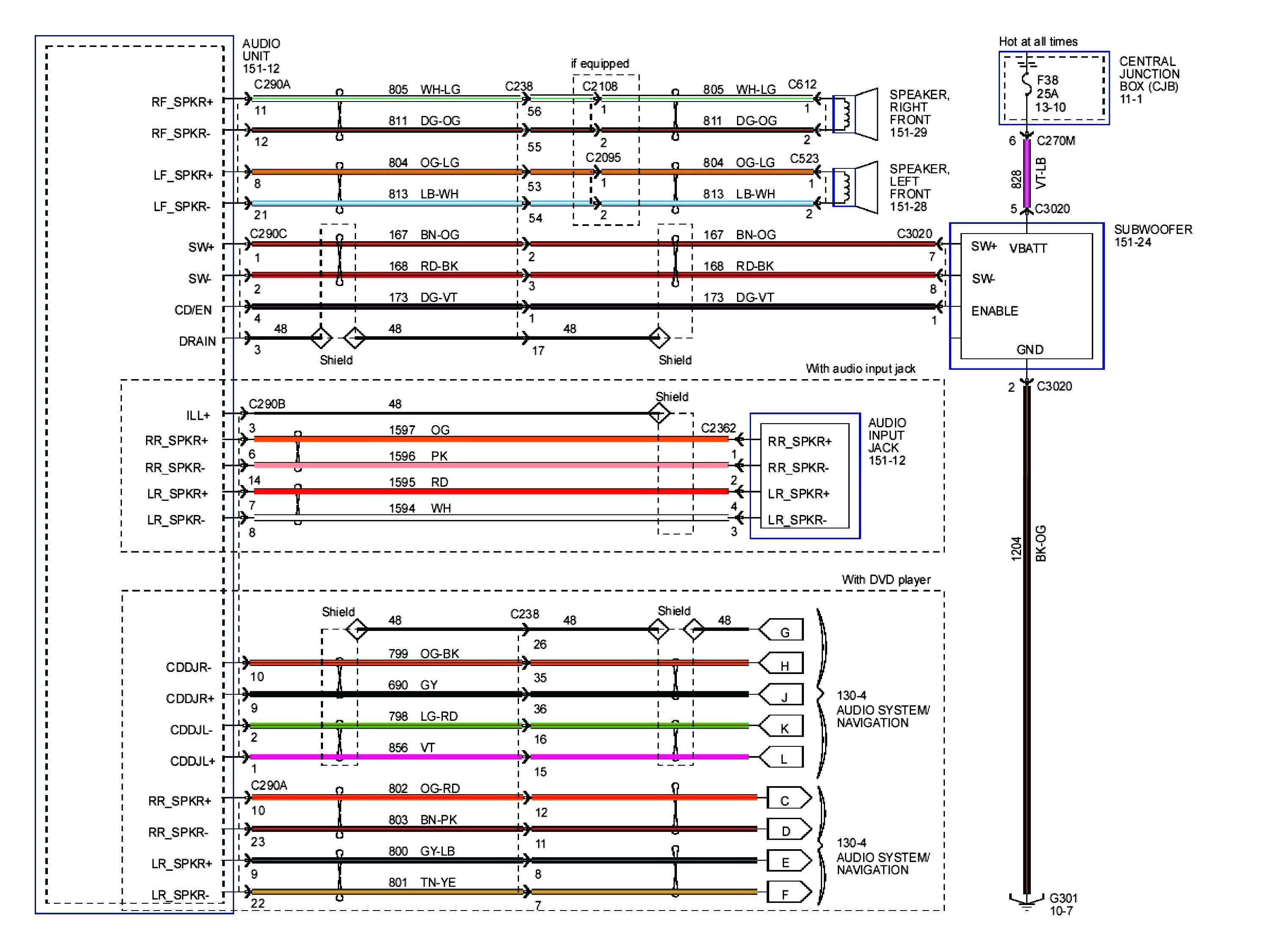 Ford Stereo Wiring Diagrams - Wiring Diagram Data - 2005 Ford Explorer Radio Wiring Diagram