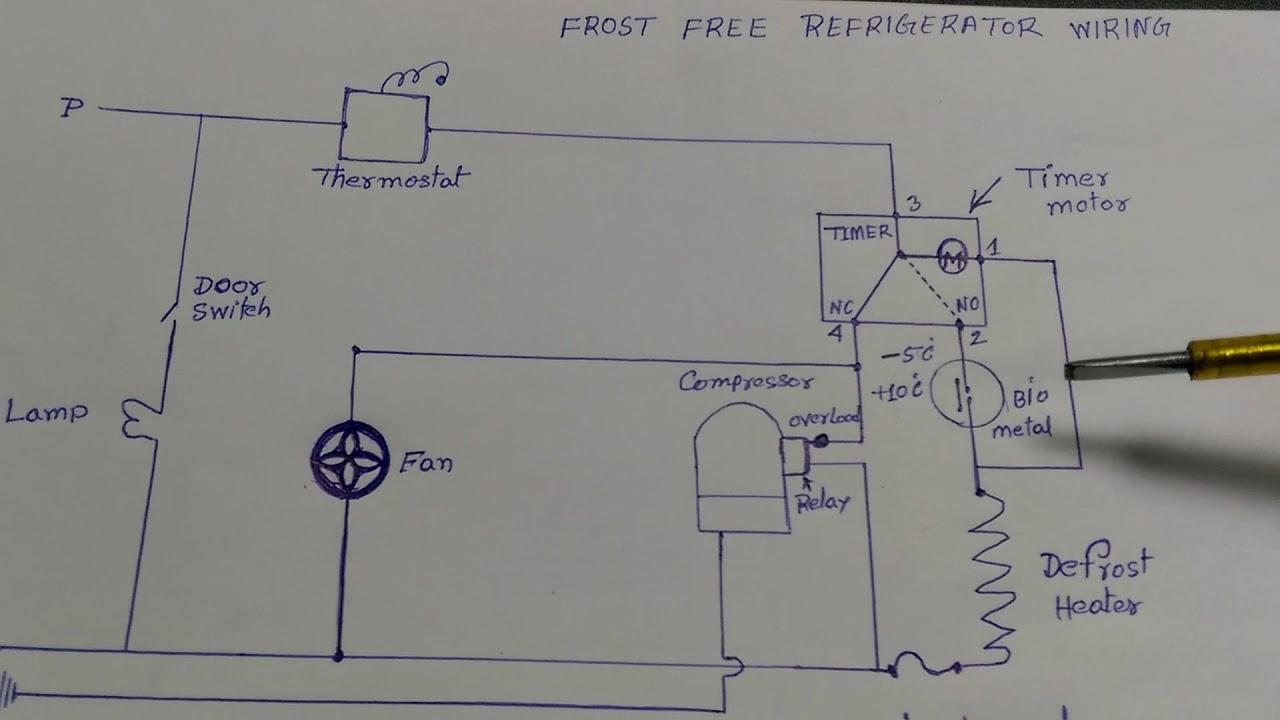 Frost Free Refrigerator Wiring Diagram In Hindi - Youtube - Refrigerator Wiring Diagram